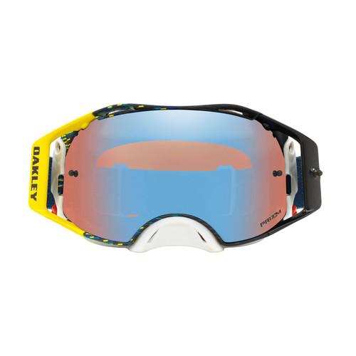 Oakley Airbrake MX Goggle (Equalizer Blue/Yellow) Prizm Sapphire Irdium Lens