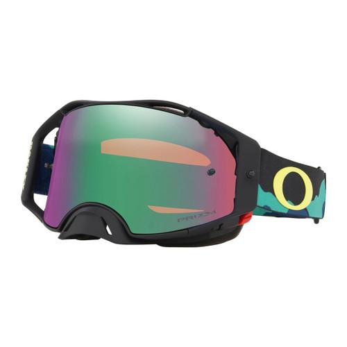 Oakley Airbrake Eli Tomac SS19.1 MX Goggle Adult (Camo Army Blue) Prizm Jade Irdium Lens