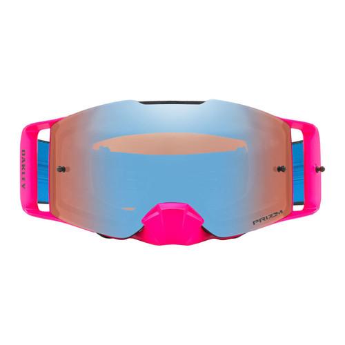 Oakley Front Line MX Goggle (Pink/Blue) Prizm Sapphire Irdium Lens