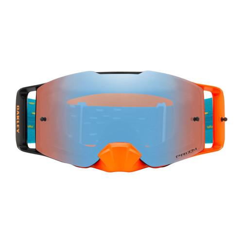 Oakley Front Line MX Goggle (Equalizer Orange/Blue) Prizm Sapphire Irdium Lens