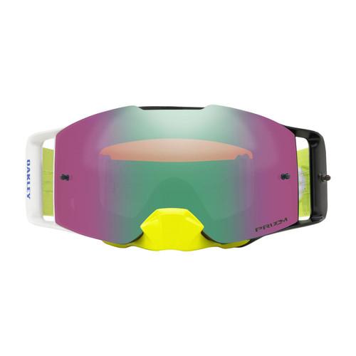 Oakley Front Line MX Goggle (Dissolve Green/Blue) Prizm Jade Irdium Lens