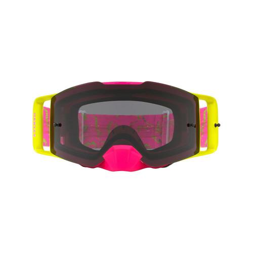 Oakley Front Line MX Goggle (Camo Vine Jungle Pink/Green) Dark Grey Lens