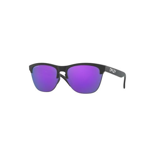 Oakley Frogskins Lite Sunglasses (Matte Black) Prizm Violet Lens