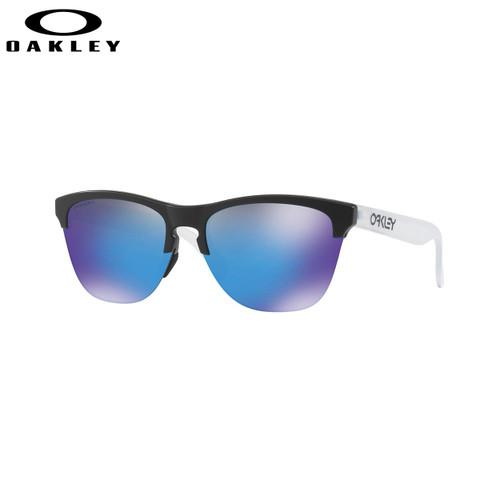Oakley Frogskins Lite Sunglasses Adult (Matte Black) Prizm Sapphire Lens