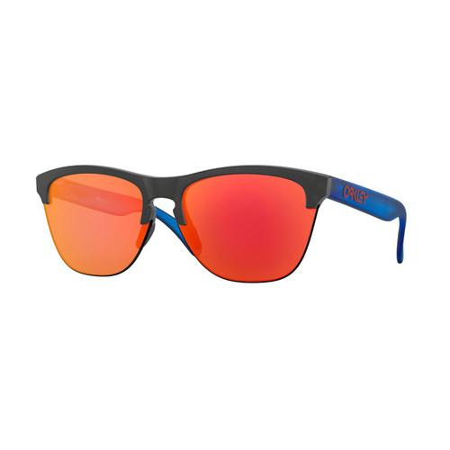 Oakley Frogskins Lite Sunglasses Adult (Maverick Vinales Replica Matte Black Ink) Prizm Ruby Lens