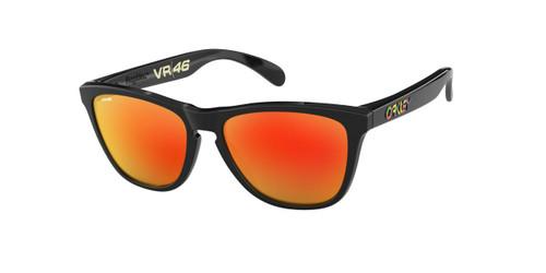Oakley Frogskins Sunglasses Adult (VR46 Polished Black) Prizm Ruby Lens