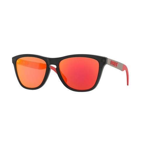 Oakley Frogskins Mix Sunglasses Adult (Moto GP Matte Black Ink) Prizm Ruby Lens