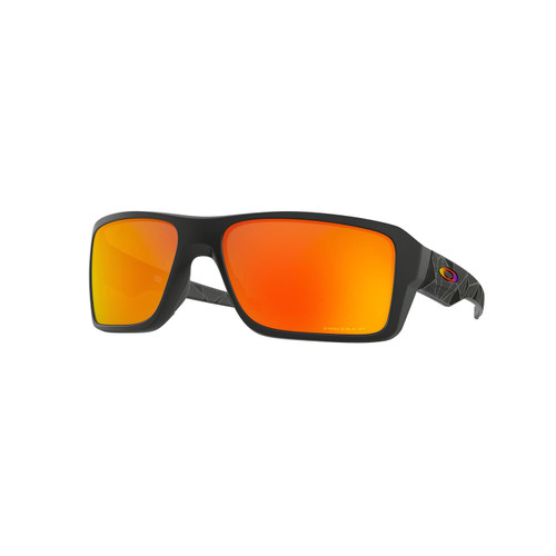 Oakley Double Edge Sunglasses Adult (Matte Black Prizmatic) Prizm Ruby Polarized Lens