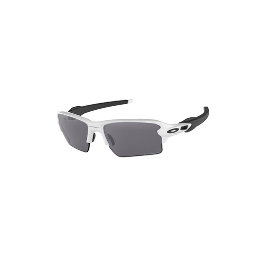 Oakley Flak 2.0 XL Sunglasses Adult (Polished White) Prizm Black Polarized Lens