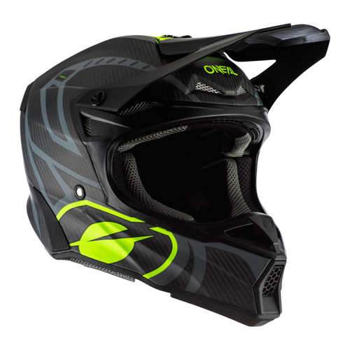 2020 O'Neal 10SRS Carbon Race MX Helmet Black/Neon Yellow