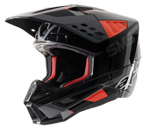 2021 Alpinestars S-M5 Rover MX Helmet Anthracite Red Fluo Grey Camo