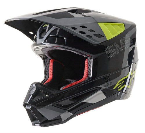 2021 Alpinestars S-M5 Rover MX Helmet Anthracite Yellow Fluo Grey Camo