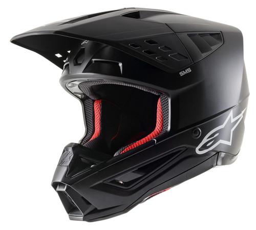 2021 Alpinestars S-M5 Solid MX Helmet Black Matt