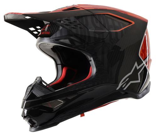 Alpinestars SM10 MX Helmet Alloy Black/Orange/Red