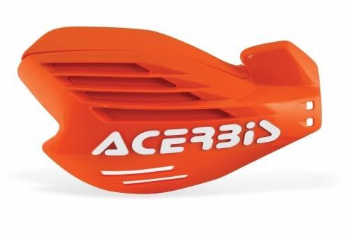 Acerbis X-FORCE Motocross Handguards Orange/White + Fitting Kit KTM MX Off-Road