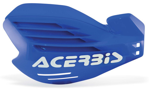 Acerbis X-FORCE Motocross Handguards Blue/White + Fitting Kit Yamaha MX Off-Road