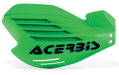 Acerbis X-FORCE Motocross Handguards Green/Black + Fitting Kit Kawasaki MX