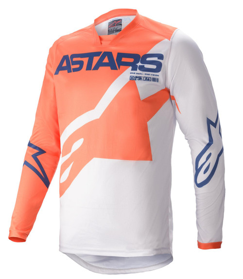 Alpinestars 2021 Racer Braap MX Jersey Range Light Grey Dark Blue