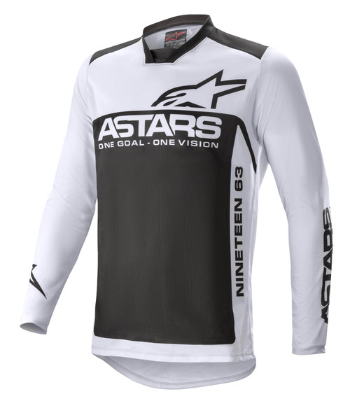 Alpinestars 2021 Racer Supermatic MX Jersey Light Grey Black