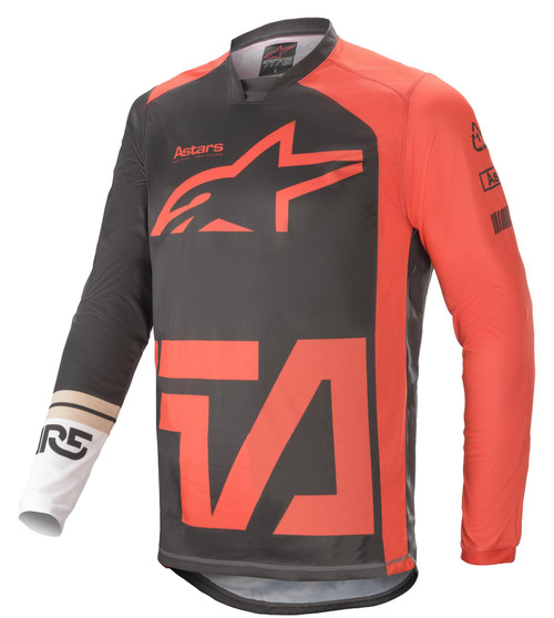 Alpinestars 2021 Racer Compass MX Jersey Anthracite Red Fluo White