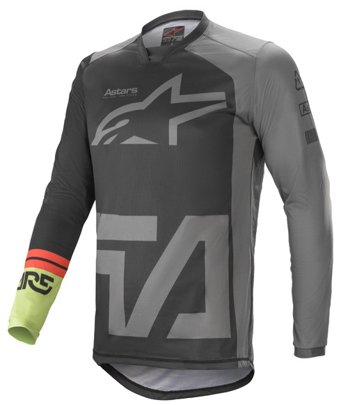 Alpinestars 2021 Racer Compass MX Jersey Black Dark Grey Green Fluo