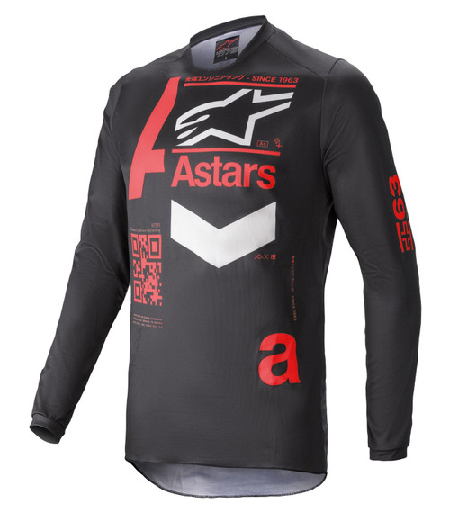 Alpinestars 2021 Fluid Chaser MX Jersey Black Bright Red
