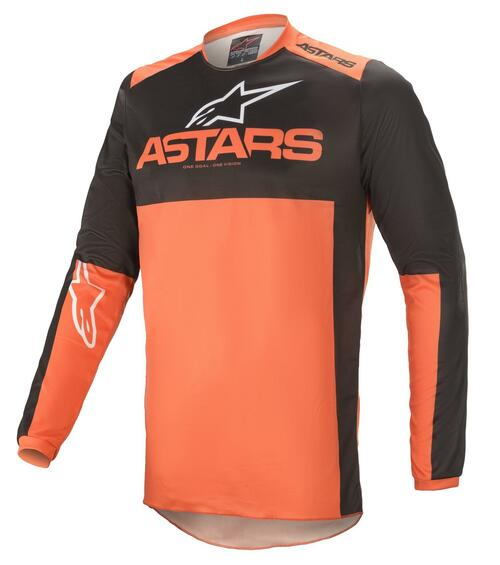 Alpinestars 2021 Fluid Tripple MX Jersey Black Orange