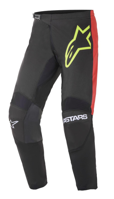 Alpinestars 2021 Fluid Tripple MX Pant Black Yellow Fluo Bright Red