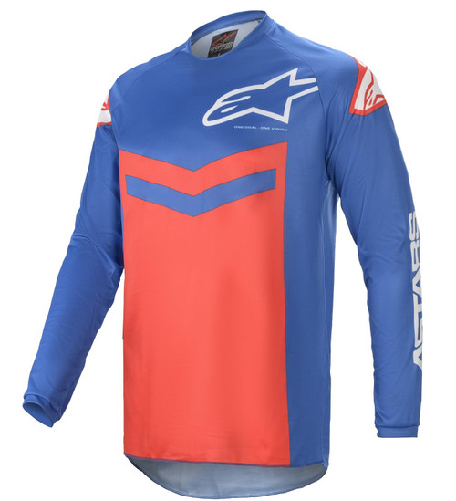 Alpinestars 2021 Fluid Speed MX Jersey Blue Bright Red