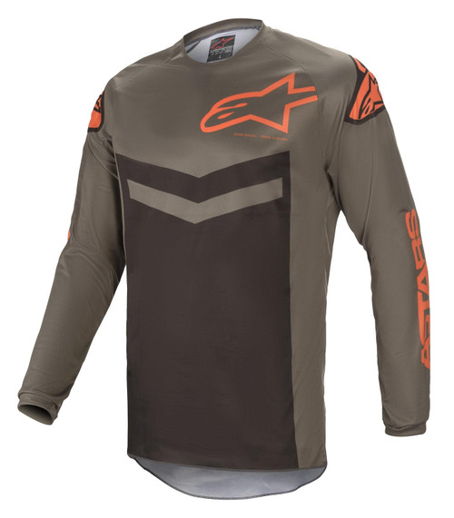 Alpinestars 2021 Fluid Speed MX Jersey Dark Grey Orange