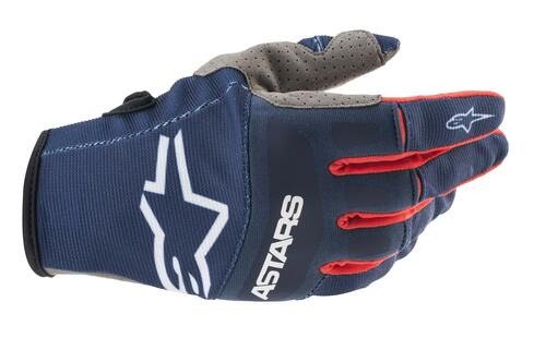 Alpinestars 2021 Techstar MX Gloves Dark Blue Bright Red White