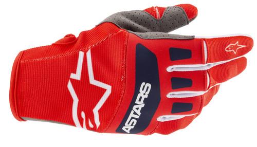 Alpinestars 2021 Techstar MX Gloves Bright Red White Dark Blue