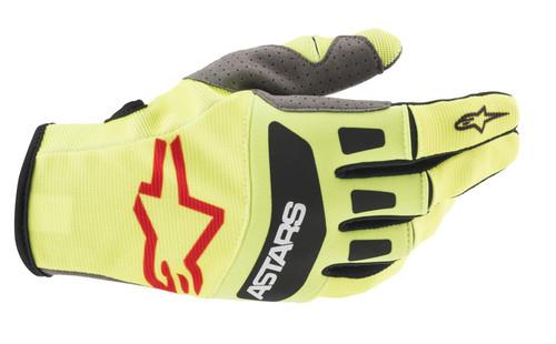 Alpinestars 2021 Techstar MX Gloves Yellow Fluo Black Bright Red