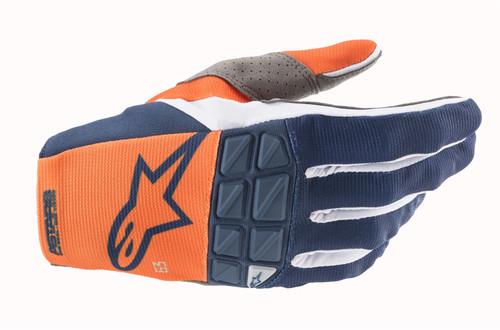 Alpinestars 2021 Racefend MX Gloves Orange Dark Blue