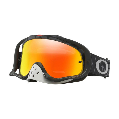 (NLA) Oakley Crowbar TLD Collection MX Goggle (Megaburst Black) Fire Iridium Lens