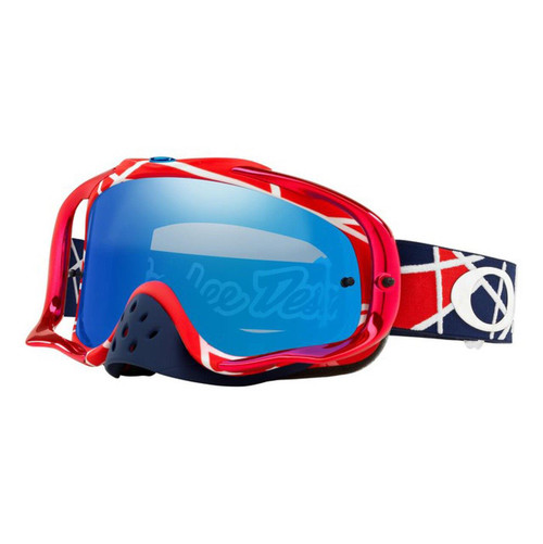 (NLA) Oakley Crowbar TLD Collection MX Goggle (Metric Red/White) Black Ice Iridium Lens