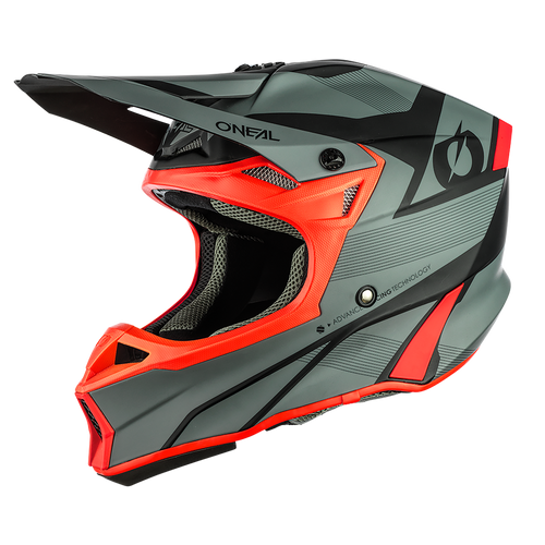 O'Neal 2021 10SRS Hyperlite Compact MX Helmet Grey/Red