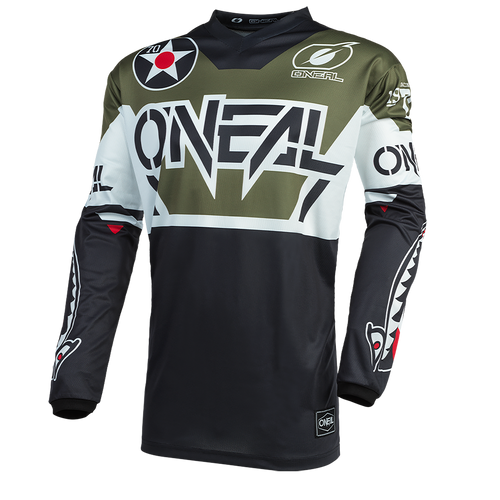 O'Neal 2021 Element MX Jersey Warhawk Black/White/Green
