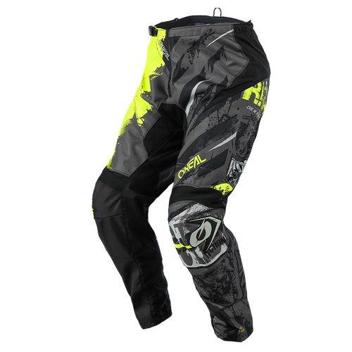 O'Neal 2021 Youth Element MX Pant Ride Black/Neon Yellow