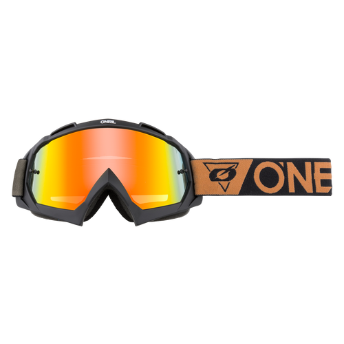 O'Neal 2021 B-10 Goggle SPEEDMETAL black/brown - radium red