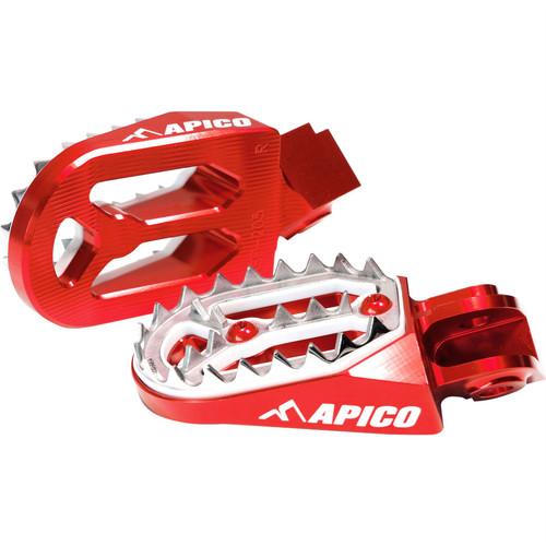 APICO DA 30V002PAR FOOT PEG PRO-BITE HUSQVARNA WR/CR/TE/TC/SM/SMR/TXC 50-610 99-13 RED