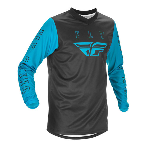 Fly Racing 2021 F-16 Youth MX Jersey Blue/Black