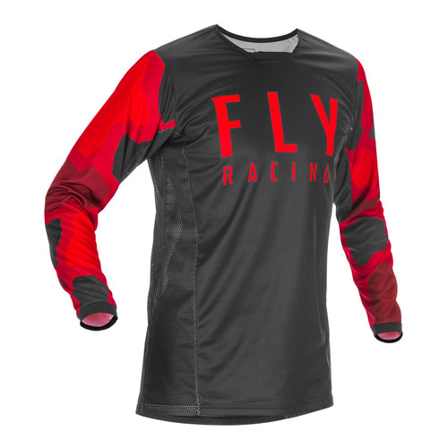 Fly Racing 2021 Kinetic K221 Youth MX Jersey Red/Black
