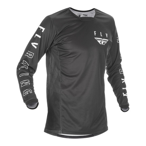 Fly Racing 2021 Kinetic Adult MX Jersey Black/White
