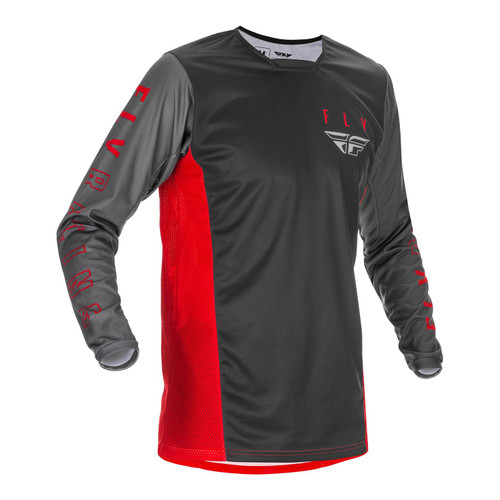 Fly Racing 2021 Kinetic K121 Adult MX Jersey Red/Grey/Black