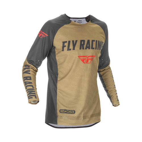 Fly Racing 2021 Evolution DST Adult MX Jersey Khaki/Black/Red