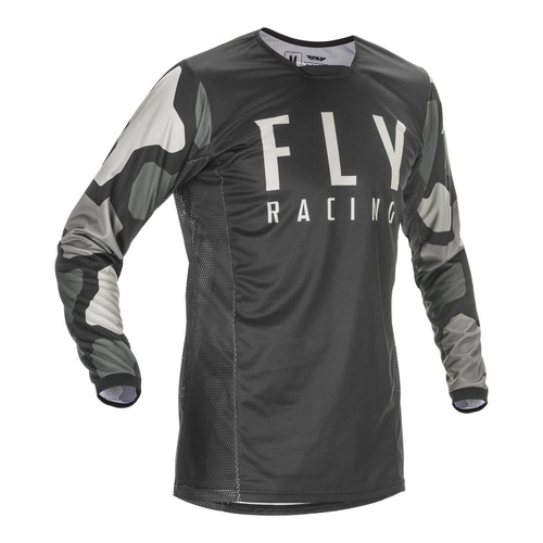 Fly Racing 2021 Kinetic K221 Youth MX Jersey Black/Grey