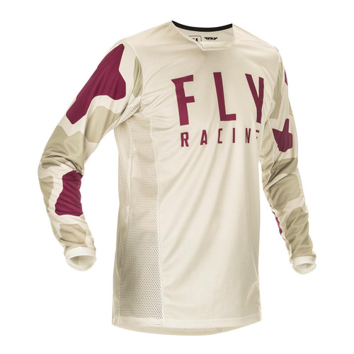 Fly Racing 2021 Kinetic K221 Adult MX Jersey Stone/Berry