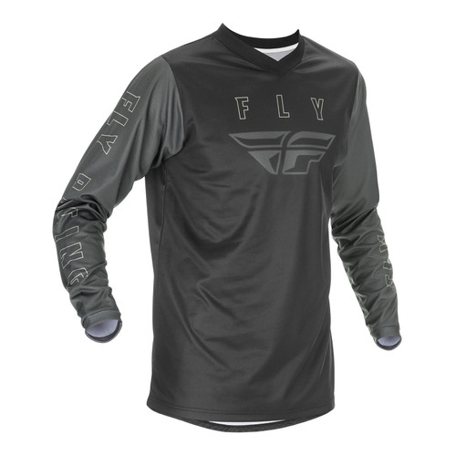 Fly Racing 2021 F-16 Youth MX Jersey Black/Grey