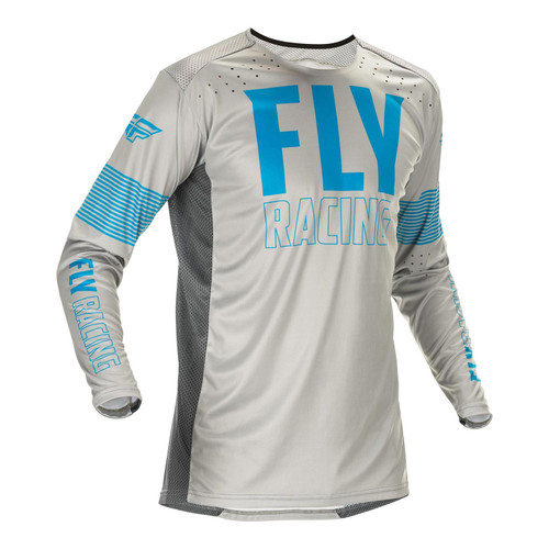 Fly Racing 2021 Lite Adult MX Jersey Blue/Grey